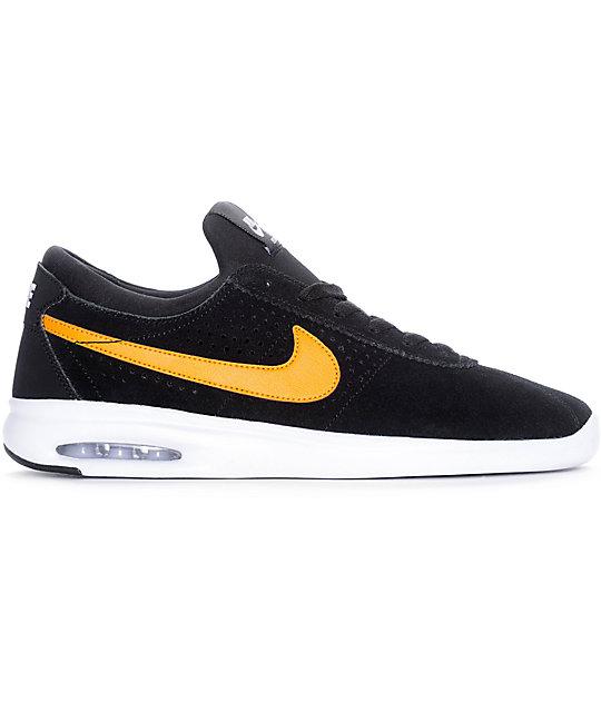 uk availability c8abd 05ddf ... Nike SB Bruin Vapor Air Max All Black   Orange Skate Shoes