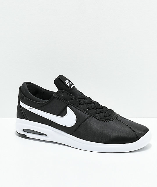 big sale a7b4a 363e4 Nike SB Bruin Vapor Air Max Black  White Nylon Skate Shoes