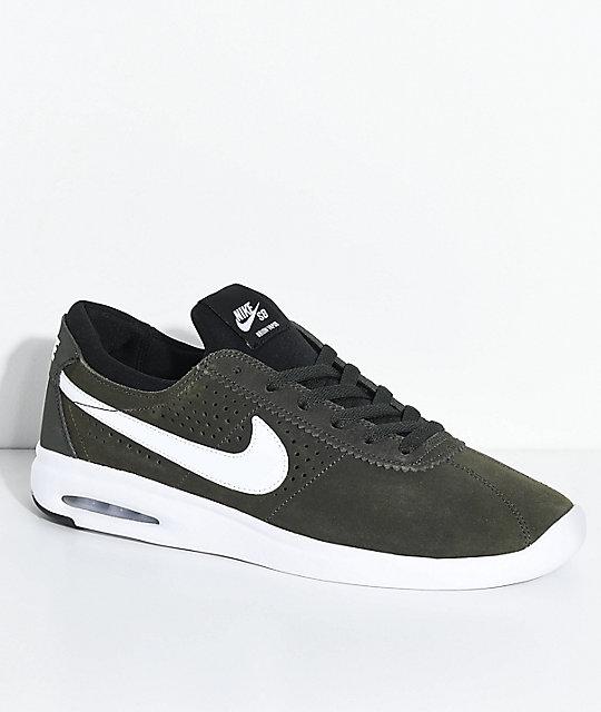 7753cbd4d566a Nike SB Bruin Vapor Air Max Sequoia   White Skate Shoes