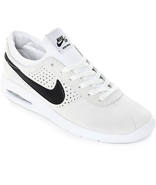 59d395f6b9f6f0 Nike SB Bruin Vapor Air Max White   Black Skate Shoes