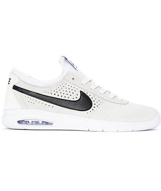 Nike Sb Bruin Vapor Air Max White Amp Black Skate Shoes Zumiez