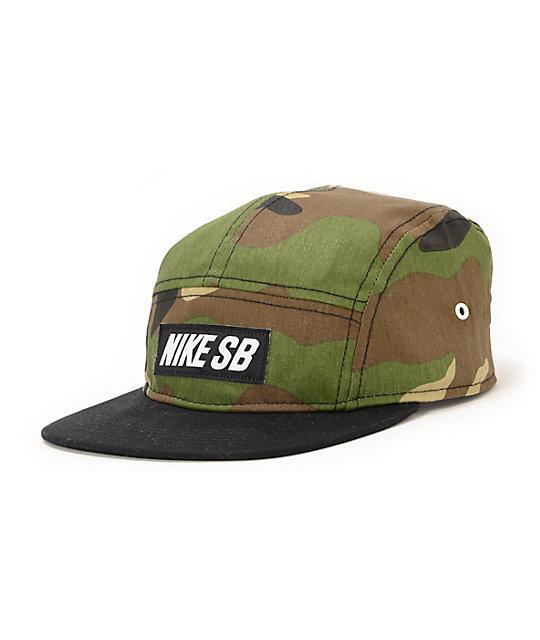 2741225afcebc Nike SB Camo   Black 5 Panel Hat