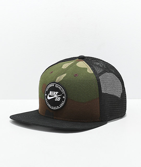 708771c32b Nike SB Camo Patch Trucker Hat