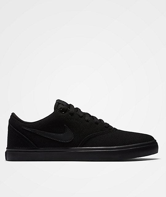 1c95b5d84b51 Nike SB Check Solarsoft Black   Black Shoes