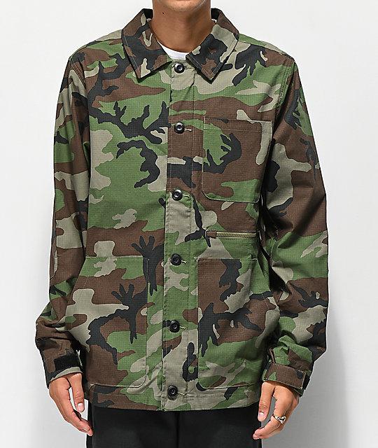 d58ae6f5 Nike SB Chore Camo Jacket | Zumiez