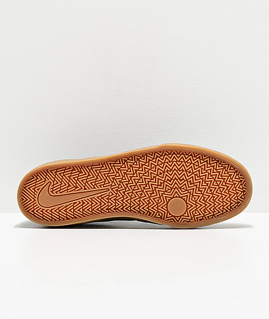 Nike SB Chron Black & Gum Skate Shoes