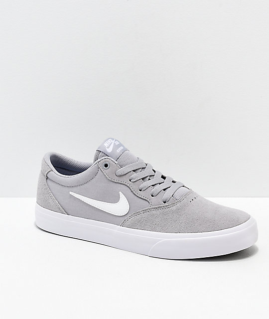 new arrival 39831 3bc03 Nike SB Chron SLR Wolf Grey   White Skate Shoes   Zumiez