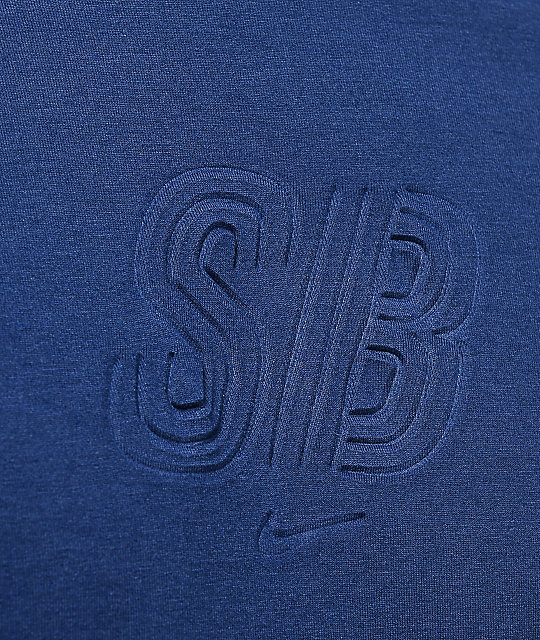 Nike SB Debossed Logo Dri-Fit Navy T-Shirt