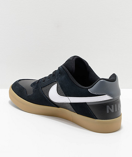 Nike SB Delta Force Black & Gum Skate Shoes