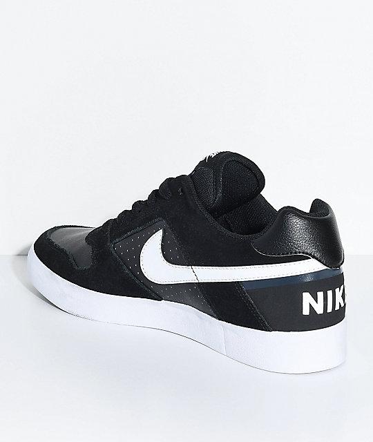 567ad956e68f3 Nike SB Delta Force Black & White Skate Shoes   Zumiez.ca