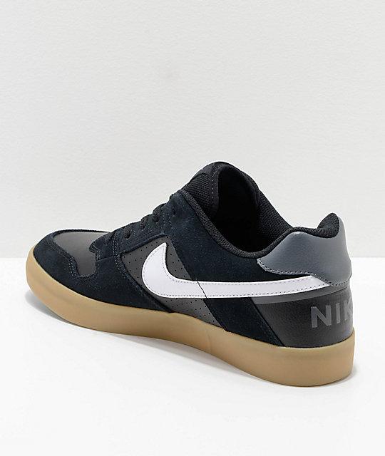 ... Nike SB Delta Force Black & Gum Skate Shoes ...
