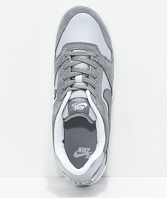 ... Nike SB Delta Force Cool Grey & White Skate Shoes ...