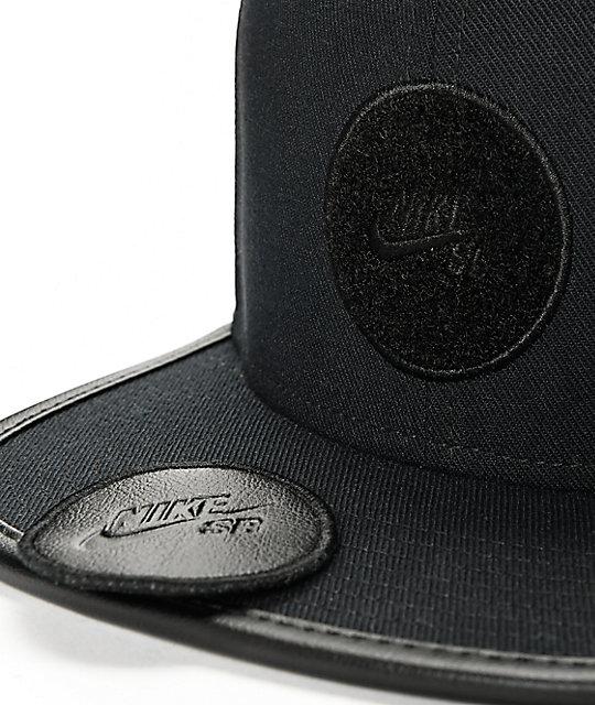 bb7aef30d2f ... Nike SB Dri-Fit Arobill Black Snapback Hat
