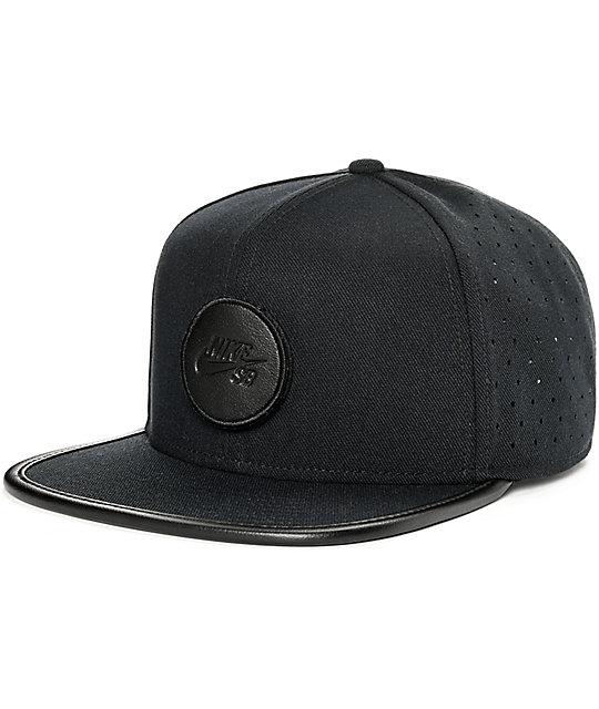 Nike SB Dri-Fit Arobill Black Snapback Hat  8b7af63c257