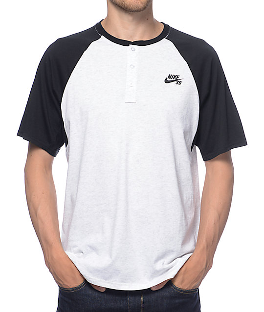 best sneakers detailed pictures best authentic Nike SB Dri-Fit Black Henley T-Shirt