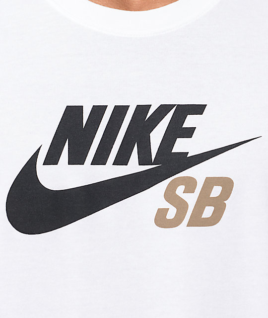 bcc0d9439890 ... Nike SB Dri-Fit Icon Logo White T-Shirt