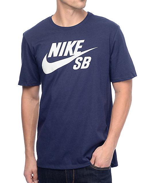 more photos 6b260 bbf51 Nike SB Dri-Fit Logo SB Navy T-Shirt   Zumiez