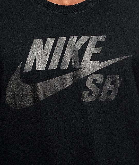 08121e1a Nike SB Dri-Fit SB Logo Black T-Shirt   Zumiez