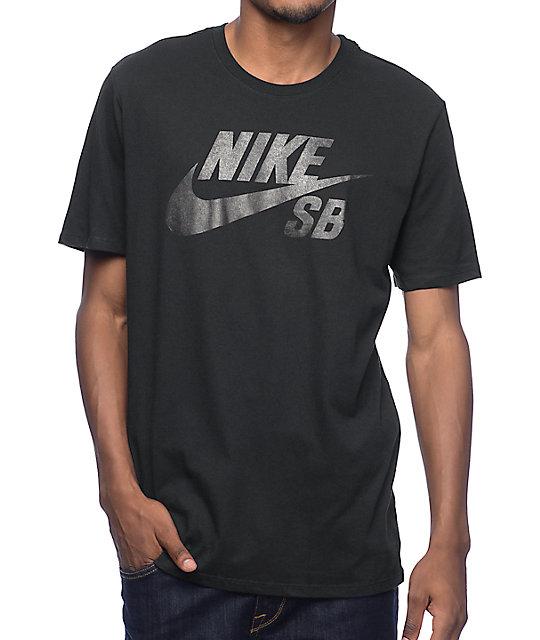 buy online d2d44 5faee Nike SB Dri-Fit SB Logo Black T-Shirt   Zumiez