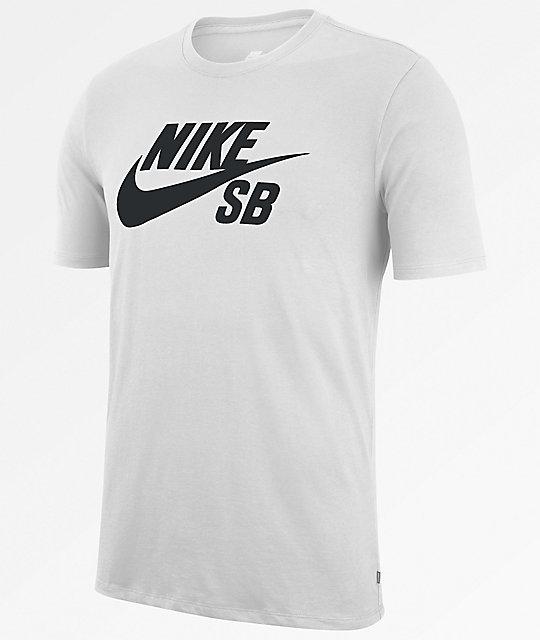 44760659f34c Nike SB Dri-Fit SB Logo White T-Shirt