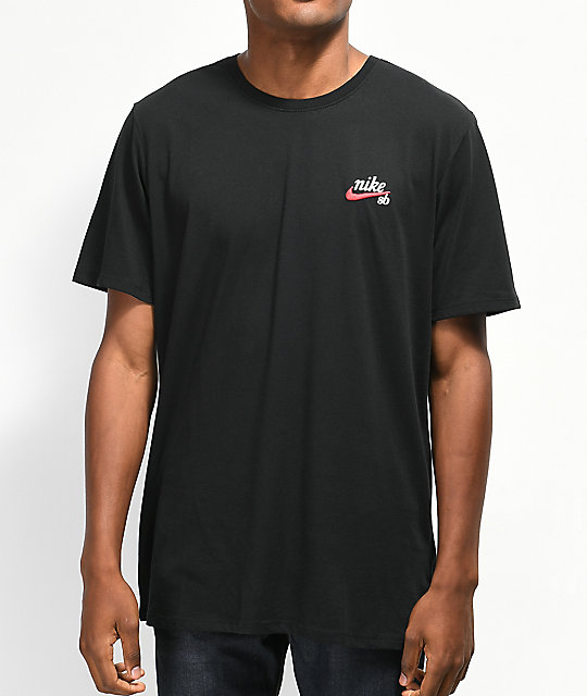 Nike SB Dri-Fit Script Black T-Shirt