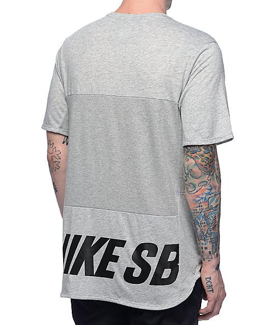 bf28f201 Nike SB Dri-Fit Skyline Cool Energy Heather Obsidian T-Shirt | Zumiez