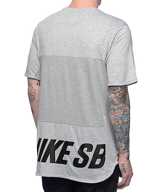 lace up in outlet for sale get new Nike SB Dri-Fit Skyline Cool Energy Heather Obsidian T-Shirt