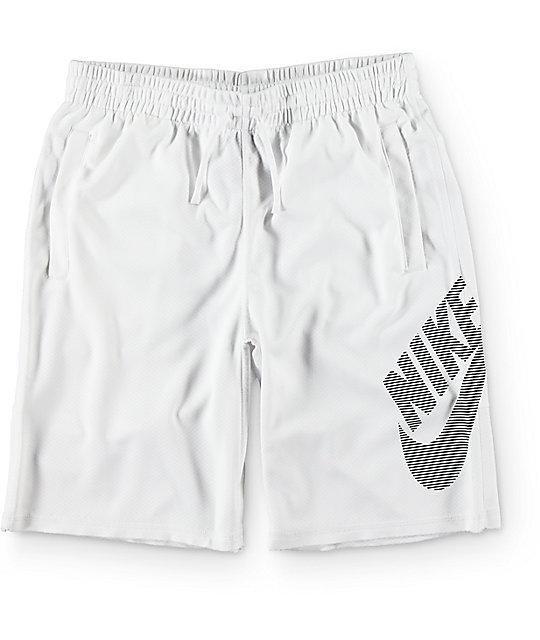Nike SB Dri-Fit Sunday Stripe White Shorts ...