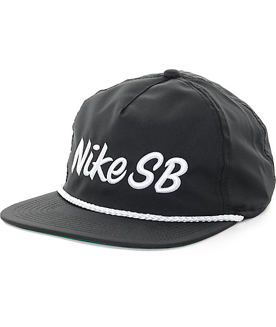 Nike SB Dri-Fit Unstructured Pro Black Snapback Hat  d4d73b11ff6