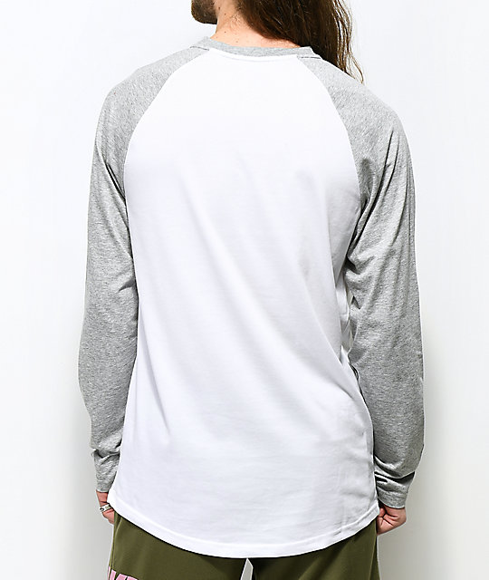 Nike SB Dri-Fit White Henley Long Sleeve T-Shirt