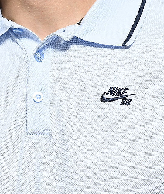 Nike SB Dri Fit camiseta polo de punto pique en color Hydrogen Blue