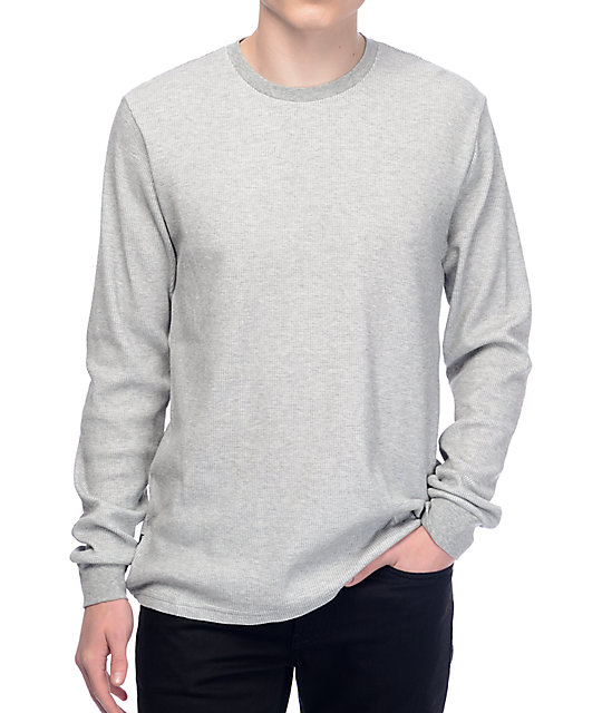 limited guantity shop well known Nike SB Dry Thermal Heather Grey Long Sleeve Shirt
