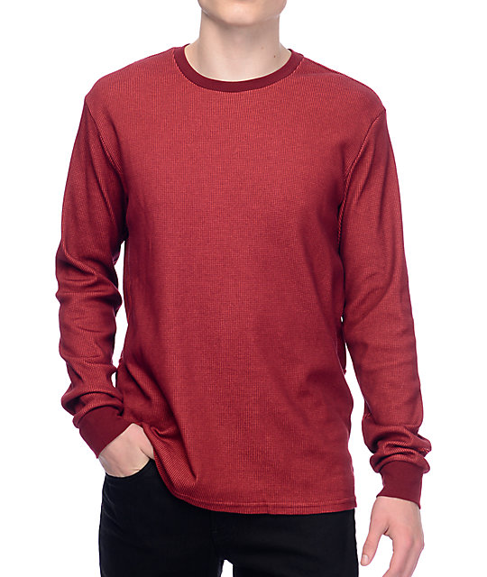 eb5e7e37f9af Nike SB Dry Thermal Red Long Sleeve Shirt
