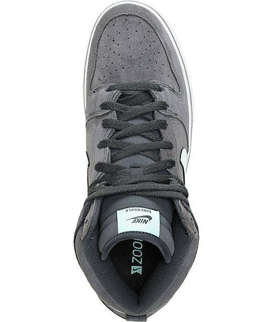 Nike SB Dunk High LR Anthracite, Medium Mint & Neutral Grey Shoes