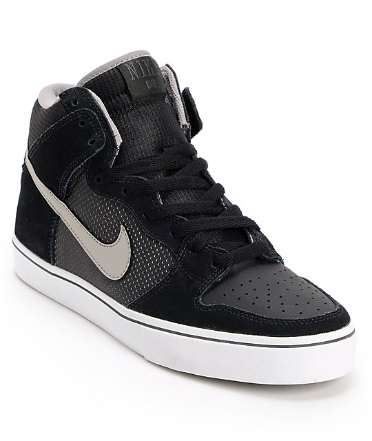 Nike SB Dunk High LR Black & Medium Grey Skate Shoes