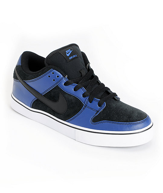 reputable site 3b378 ef0cc Nike SB Dunk LR Thermohype Black   Blue Skate Shoes   Zumiez