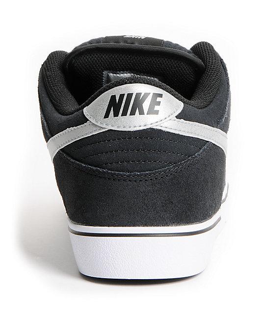 free shipping 61be8 f69eb ... Nike SB Dunk Low LR Black, Metallic Silver   White Skate Shoes ...
