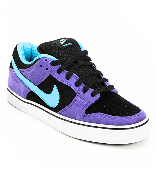online store 72176 ef272 Nike SB Dunk Low LR Purple  Chlorine Skate Shoes  Zumiez