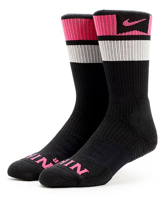 Nike Chaussettes Hommes Dri Fit Noir Et Rose