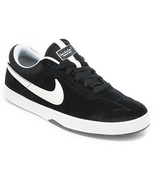 Nike SB Eric Koston 1 Lunarlon Black & White Skate Shoes ...