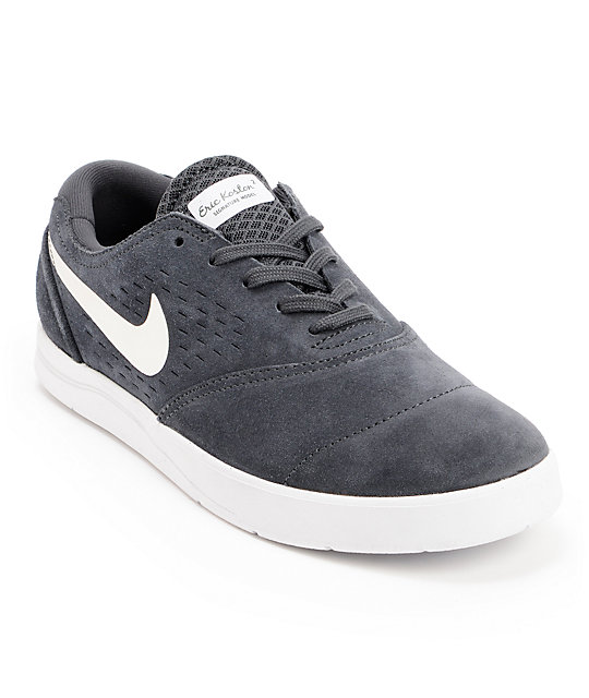 bdb5d1dca2d4 Nike SB Eric Koston 2 Lunarlon Anthracite   White Suede Skate Shoes ...