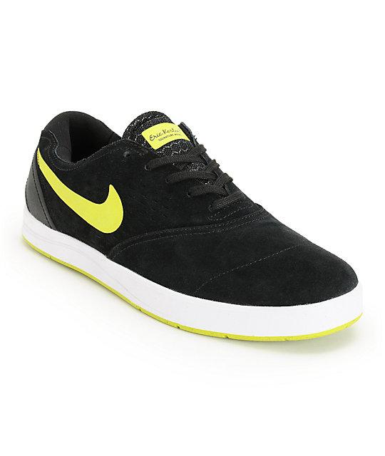 promo code 324f8 c119a Nike SB Eric Koston 2 Lunarlon Black, Venom Green,   White Skate Shoes    Zumiez