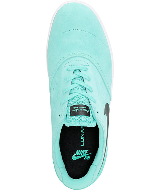 Nike SB Eric Koston 2 Lunarlon Crystal Mint & Black Skate Shoes