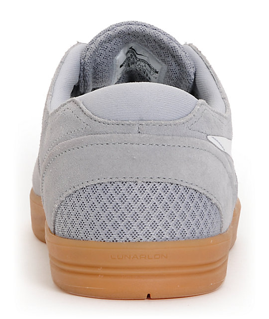 Nike SB Eric Koston 2 Lunarlon Wolf Grey, White & Gum Skate Shoes