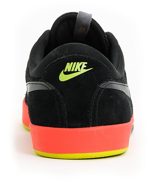 Nike SB Eric Koston Black, Sunburst & Green Skate Shoes