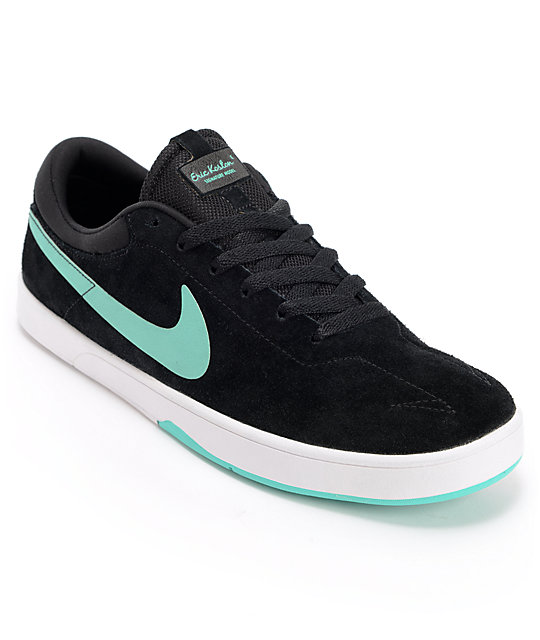 Nike SB Eric Koston Black & Crystal Mint Skate Shoes