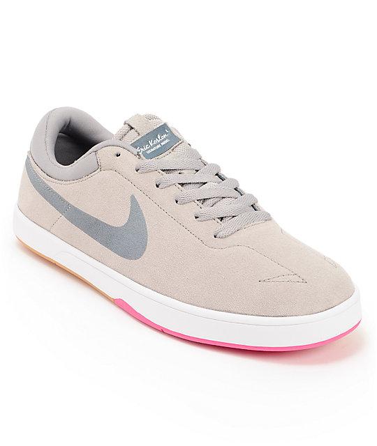 low priced 2215c b4868 Nike SB Eric Koston SE Lunarlon Medium Grey, Pink Foil   Armory Slate Shoes    Zumiez