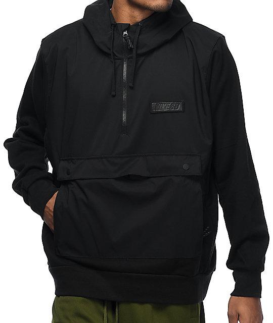 shop classic fit the latest Nike SB Everett Black Repel Anorak Jacket