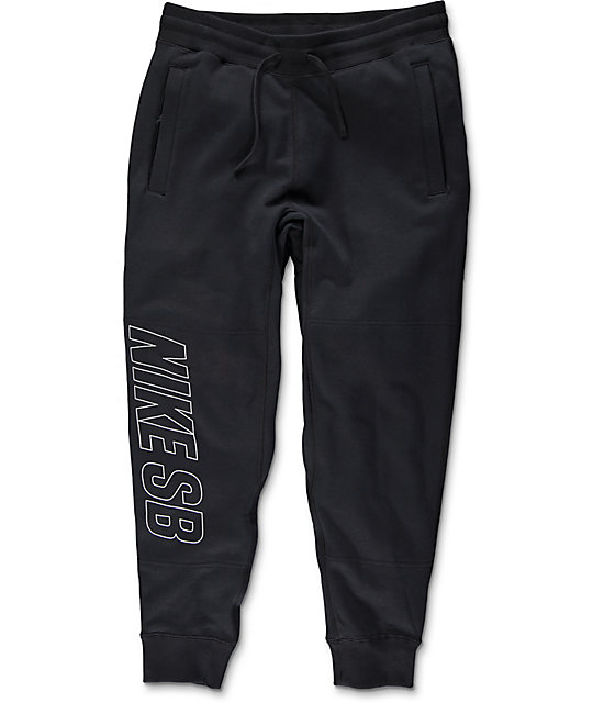 Nike SB Everett Graphic Black & White Pants ...