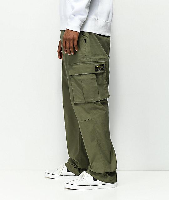 c15c154128 Nike SB FTM Olive Cargo Pants | Zumiez